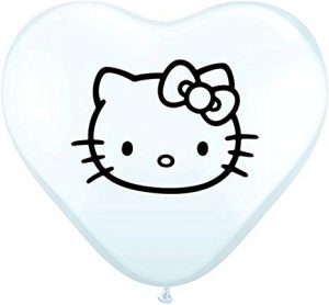 "6"" Hello Kitty Heart Balloons"