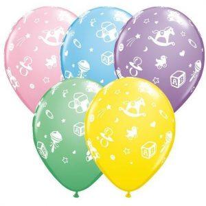 "5"" Nursery A-Round Pastel Balloons"