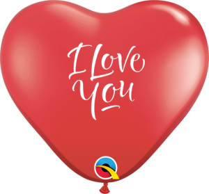 "6"" I Love You Red Heart (100ct) Balloons"