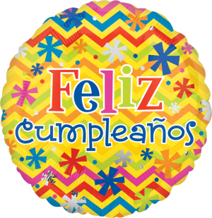 "18"" Feliz Cumpleanos Bright Balloons"