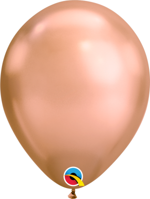 "11"" Chrome Rose Gold (100ct) Balloons"