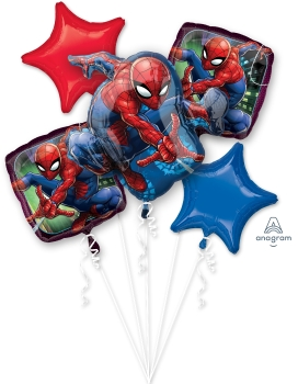 Spider man bouquet balloons pack