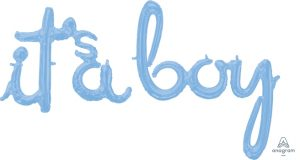 It`s a Boy Pastel Blue Balloons