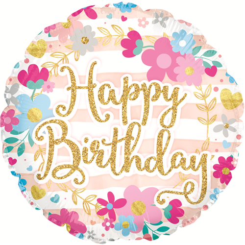 """18"""" Birthday Glitter Font - BalloonsNmore Albany, NY"""