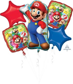 Mario Bros Bouquet Pack - BalloonsNmore White Plains, NY