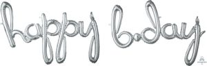 script phrase happy birthday day silver Balloons 'N More Wholesale Balloons Baltimore, Maryland