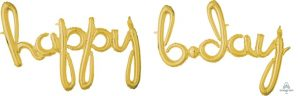 script phrase happy birthday day gold Balloons 'N More Wholesale Balloons Newark, New Jersey
